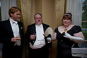 DR. RUDOLF KING; JOHN JELLEY; MRS. JOHN JELLEY, 2009 Royal Caledonian Ball in aid of various Scottish charities , Great Room, Grosvenor House. London. 1 May 2009.