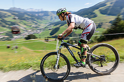 04.08.2015, Zwölferkogel, Saalbach Hinterglemm, AUT, ÖSV, Medientermin mit ÖSV Abfahrerinnen, im Bild Stefanie Moser // during a media event with the OeSV women Downhill Team at the Zwölferkogel in Saalbach Hinterglemm, Austria on 2015/08/04. EXPA Pictures © 2015, PhotoCredit: EXPA/ JFK