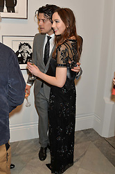 FENTON BAILEY and SARAH STANBURY at a private view of photographs by David Bailey entitled 'Bailey's Stardust' at the National Portrait Gallery, St.Martin's Place, London on 3rd February 2014.