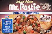 MR. PASTIE --Retail supermarket packaging for a frozen handmade meat turnover,Pen Argyl,PA. 11101985