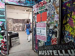 Art gallery at Tacheles Kunsthaus or Art Gallery alternative collective on Oranienburger strasse in Mitte Berlin Germany