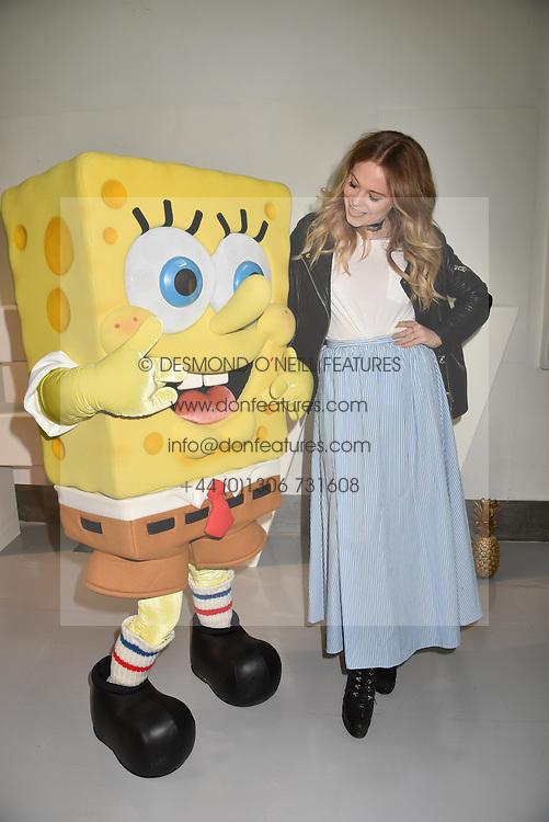 Poppy Jamie at the LFW Sponge Bob Gold presentation at The Atrium, The Store Studios, 180 The Strand, London England. 18 February 2017.