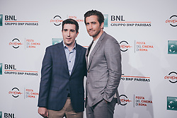 October 28, 2017 - Rome, Italy - Jeff Bauman and Jake Gyllenhaal attend 'Stronger' photocall during the 12th Rome Film Fest at Auditorium Parco Della Musica on October 28, 2017 in Rome, Italy. (Credit Image: © Luca Carlino/NurPhoto via ZUMA Press)