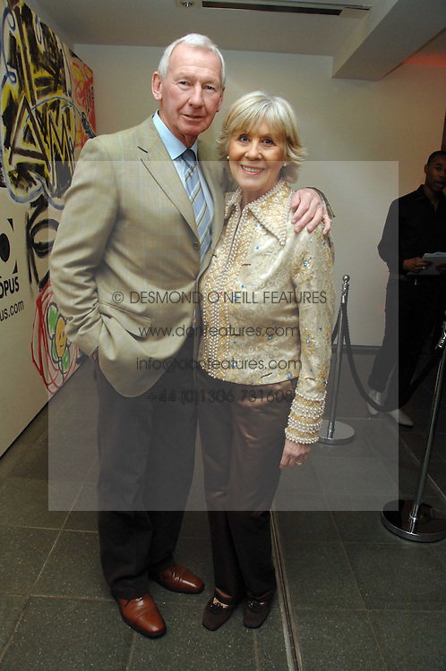 Fotballer BOB WILSON and his wife MEG at a party to celebrate the publication of Vivienne Westwood's Opus held at The Serpentine Gallery, Kensington Gardens, London W2 on 12th February 2008.<br />