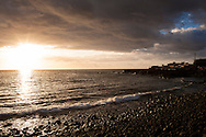 ESP, Spain, the Canary Islands, island of La Palma, sunset near El Remo at the west coast.<br /> <br /> ESP, Spanien, Kanarische Inseln, Insel La Palma, Sonnenuntergang bei El Remo an der Westkueste.
