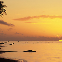 Fiji Islands, Taveuni Island, Waiyevo Sunset