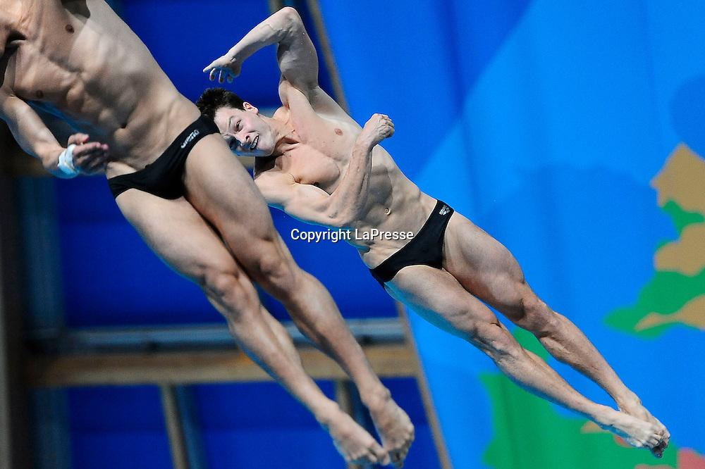Foto Fabio Ferrari - LaPresse<br /> 28/07/2015 Kazan ( Russia ) <br /> Sport <br /> 16 Campionati del mondo FINA 2015 - Diving - 3m Syncro Piattaforma Uomini - finale<br />  nella foto: FECK Stephan ,<br /> HAUSDING Patrick<br /> <br /> Photo Fabio Ferrari - LaPresse<br /> 28 July 2015 Kazan ( Russian ) <br /> Sport<br /> 16th FINA World Championship 2015 - Diving - Men's 3m Synchro Springboard - final.<br /> in the picture:FECK Stephan ,<br /> HAUSDING Patrick