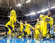 The University of Michigan men's basketball team defeats the Syracuse Orange, 61-56, to advance to the National Championship game at the Georgia Dome in Atlanta, Georgia on April 6, 2013.