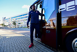 ,Daniel Edozie of Bristol Flyers arrives at Plymouth Pavilions prior to kick off - Photo mandatory by-line: Ryan Hiscott/JMP - 28/10/2018 - BASKETBALL - Plymouth Pavilions - Plymouth, England - Plymouth Raiders v Bristol Flyers - British Basketball Cup