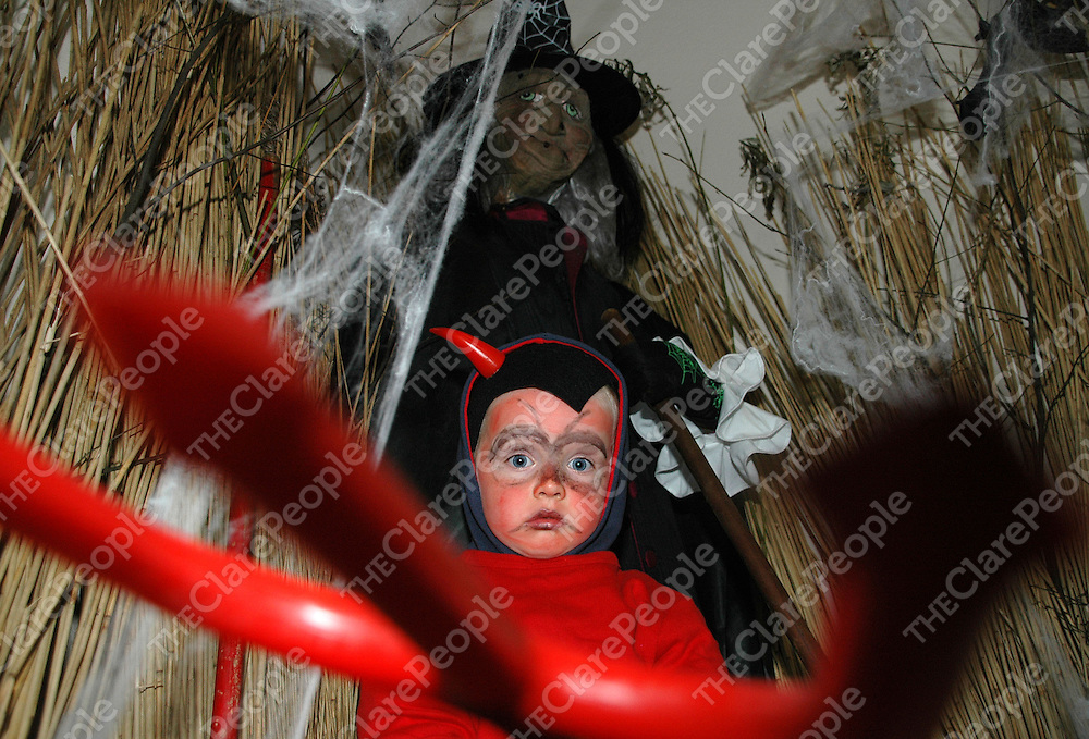 31/10/2005<br />Attending the Fancy Dress Competition at Bunratty Castle & Folk Park was Donal Enright aged 4, Quin Co.Clare.<br />Picture. Cathal Noonan/Press22.