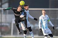 FODBOLD: Nichlas Rohde (AB) og Jonas Henriksen (FC Helsingør) under træningskampen mellem FC Helsingør og AB den 19. januar 2019 på Snekkersten Idrætscenter. Foto: Claus Birch
