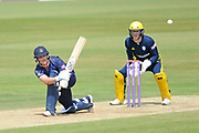 Rob Jones of Lancashire batting during the Royal London One Day Cup semi-final match between Hampshire County Cricket Club and Lancashire County Cricket Club at the Ageas Bowl, Southampton, United Kingdom on 12 May 2019.