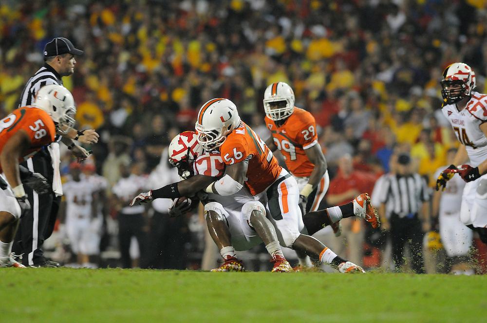 2011 Miami Hurricanes Football @ Maryland<br /> <br /> Marcus Robinson