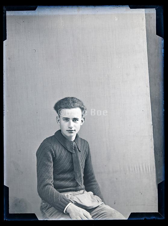 young male studio portrait circa 1930s