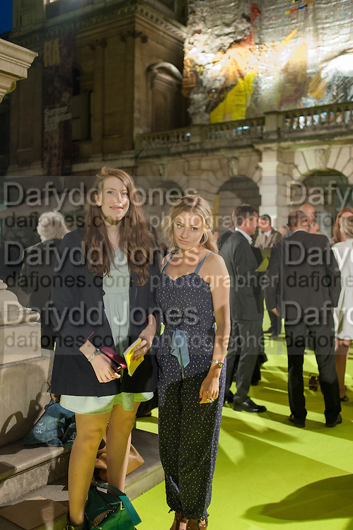 KATHRYN BALLS; KEELEY WALKER, The private view for the RA summer exhibition party. Royal Academy, Piccadilly. London. 5 June 2013.