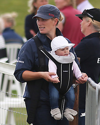 Image ©Licensed to i-Images Picture Agency. UK. Zara Phillips & Daughter Mia. Picture by i-Images