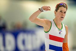 12-11-2017 NED: ISU World Cup, Heerenveen<br /> Ireen Wüst werd zesde op de 3000 meter (4.05,54) op ruim twee seconden van de winnende tijd van De Jong (4.03,53)