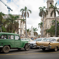 Paseo del Prado, Havana Central, Cuba, old Cars