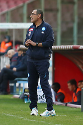 January 28, 2018 - Naples, Italy - MAURIZIO SARRI (SSC Napoli).., during the Serie A match between SSC Napoli and FC Bologna at Stadio S. Paolo on January 28, 2018 in Naples, Italy  (Credit Image: © Paolo Manzo/NurPhoto via ZUMA Press)