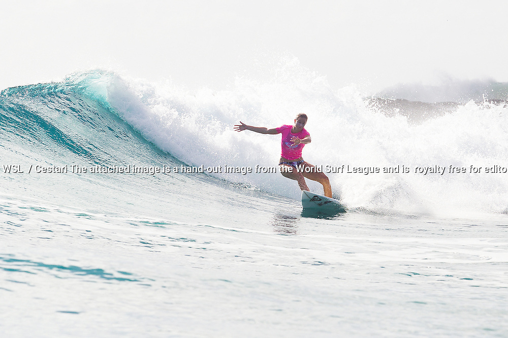 Bianca Buitendag of South Africa (pictured) advanced into Round 4 of the Roxy Pro Gold Coast on Saturday March 12, 2016. CREDIT: © WSL/ Cestari PHOTOGRAPHER: Kelly Cestari SOCIAL MEDIA TAG: @wsl @kc80. The attached image is a hand-out image from the World Surf League and is royalty free for editorial use only, no commercial rights granted. The copyright is owned by World Surf League. Sale or license of the images is prohibited. ALL RIGHTS RESERVED.