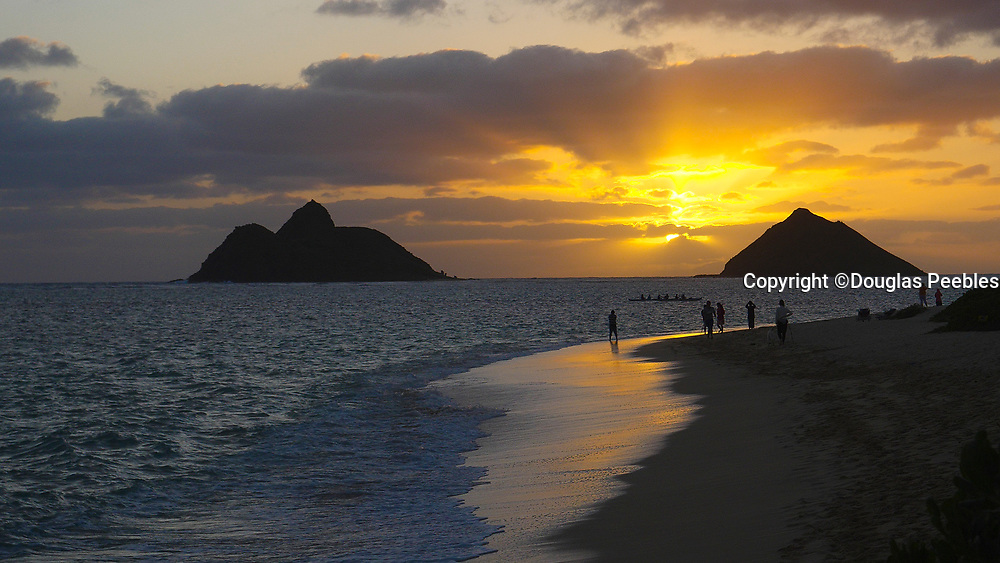 Sunrise, Mokulua Islands, Lanikai Beach, Kailua, Oahu, Hawaii