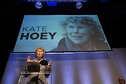 """© Licensed to London News Pictures . 25/05/2016 . Bolton , UK . KATE HOEY speaks , listened to by PAUL NUTTALL (bottom right) . Nigel Farage , Kate Hoey and Paul Nuttall at a """" We Want Our Country Back """" public meeting in favour of the UK leaving the EU at the Premier Suite of Bolton Wanderers' Macron Stadium . Photo credit : Joel Goodman/LNP"""