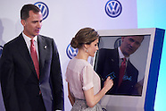 062916 Spanish Royals visit the factory of Volkswagen in Navarra