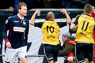 Onderwerp/Subject: NAC Breda - Willem II - Eredivisie<br /> Reklame:  <br /> Club/Team/Country: <br /> Seizoen/Season: 2012/2013<br /> FOTO/PHOTO: Anthony LURLING ( Anthonius Petrus LURLING ) (C) of NAC Breda and Jens JANSE (R) of NAC Breda celebrating goal scored by Kees LUIJCKX (NOT ON PHOTO) of NAC Breda and Kevin BRANDS (L) of Willem II dejected ( 1 - 0 ). (Photo by PICS UNITED)<br /> <br /> Trefwoorden/Keywords: <br /> #02 #03 $94 &plusmn;1355238527106<br /> Photo- &amp; Copyrights &copy; PICS UNITED <br /> P.O. Box 7164 - 5605 BE  EINDHOVEN (THE NETHERLANDS) <br /> Phone +31 (0)40 296 28 00 <br /> Fax +31 (0) 40 248 47 43 <br /> http://www.pics-united.com <br /> e-mail : sales@pics-united.com (If you would like to raise any issues regarding any aspects of products / service of PICS UNITED) or <br /> e-mail : sales@pics-united.com   <br /> <br /> ATTENTIE: <br /> Publicatie ook bij aanbieding door derden is slechts toegestaan na verkregen toestemming van Pics United. <br /> VOLLEDIGE NAAMSVERMELDING IS VERPLICHT! (&copy; PICS UNITED/Naam Fotograaf, zie veld 4 van de bestandsinfo 'credits') <br /> ATTENTION:  <br /> &copy; Pics United. Reproduction/publication of this photo by any parties is only permitted after authorisation is sought and obtained from  PICS UNITED- THE NETHERLANDS