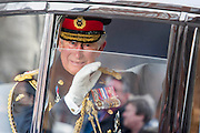 Prince Charles leaves. A memorial service, fly and march past for all the forces who fought in Afghanistan is attended by the Royal Family. St Paul's Cathedral, London, UK 13 Mar 2015