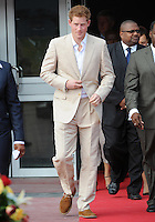 Prince Harry attends the Bahamian National Youth Rally at the National Stadium, Nassau, The Bahamas, on the 5th March 2012<br /> PICTURE BY JAMES WHATLING