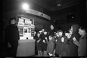U.N.C.L.E. agents attend the first U.N.C.L.E. Conference and Film Show at the Adelphi Cinema as guests of Smiths Potato Crisps. Some of the agents entering the conference..01.04.1967