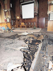 FEB 02 2014  Arson Attack Baptist Church Watford