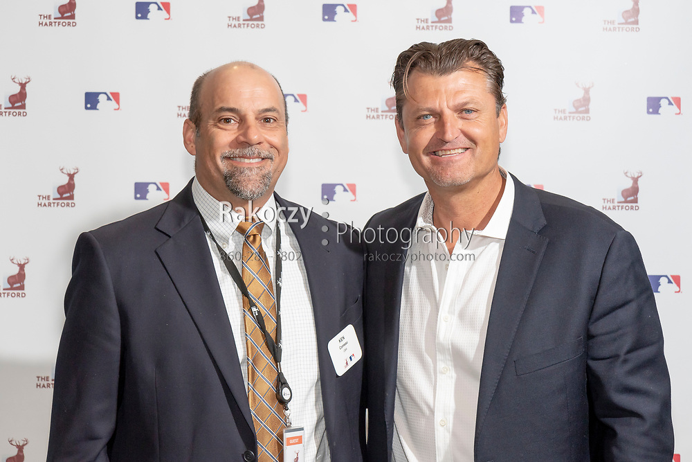 Major League Baseball player and Hall of Fame inductee Trevor Hoffman visits The Hartford for a meet-and-greet and question-answer session with employees.