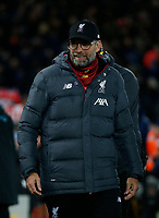 Football - 2019 / 2020 Premier League - Liverpool vs. Everton<br /> <br /> Liverpool manager Jurgen Klopp, at Anfield.<br /> <br /> COLORSPORT/ALAN MARTIN