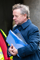 Shoreham air crash pilot Andrew Hill arrives at the Old Bailey in London where he is facing 11 charges of manslaughter following the crash of his Hawker Hunter on the A27 at Shoreham during an airshow on August 22nd 2015. London, January 29 2019.