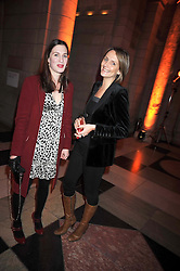 Left to right, FLORA ASTOR and SAFFRON ALDRIDGE at Hats - an antology of Stephen Jones held at the V&A, London on 23rd February 2009.