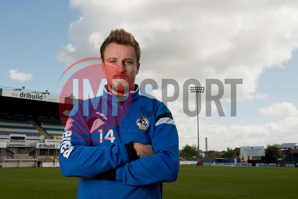 Bristol Rovers Chris Lines poses for a photo ahead of the Vanarama Conference Play-Off Final - Photo mandatory by-line: Dougie Allward/JMP - Mobile: 07966 386802 - 12/05/2015 - SPORT - Football - Bristol - Memorial Stadium - Bristol Rovers v Grimbsy Town - Vanarama Football Conference