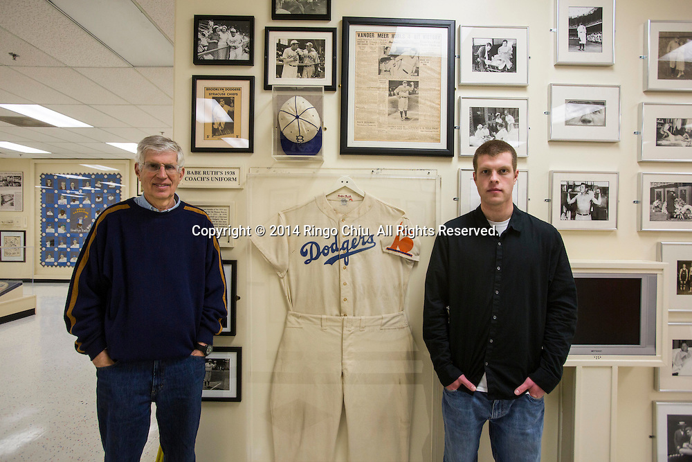 Gary Cypres, sports memorabilia collector, and his son Jeremy Cypres started PriceRealized.com, the sports memorabilia industry&rsquo;s first and only comprehensive price database and research service.<br /> Photo by Ringo Chiu/PHOTOFORMULA.com)