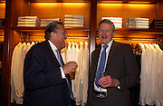 David Ker and Hugh ( Duke of?)  Aberconr, Asprey Store relaunch party after rebuilding. New Bond St. 18 May 2004. ONE TIME USE ONLY - DO NOT ARCHIVE  © Copyright Photograph by Dafydd Jones 66 Stockwell Park Rd. London SW9 0DA Tel 020 7733 0108 www.dafjones.com