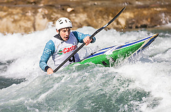 Gercer Jan (KKK Ljubljana /Slovenia ) during ICF Canoe Slalom Ranking Race Tacen 2018, on April 8, 2018 in Ljubljana, Slovenia. Photo by Urban Meglic / Sportida