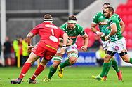 Irne Herbst of Benetton Treviso in action during todays match<br /> <br /> Photographer Craig Thomas/Replay Images<br /> <br /> Guinness PRO14 Round 3 - Scarlets v Benetton Treviso - Saturday 15th September 2018 - Parc Y Scarlets - Llanelli<br /> <br /> World Copyright &copy; Replay Images . All rights reserved. info@replayimages.co.uk - http://replayimages.co.uk