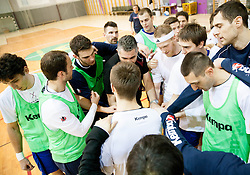 Team Slovenija during the Training Camp before IHF Men's Handball World Championship Spain 2013 on January 9, 2013 in Zrece, Slovenia. (Photo By Vid Ponikvar / Sportida.com)