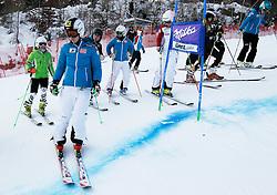 28.12.2013, Hochstein, Lienz, AUT, FIS Weltcup Ski Alpin, Damen, Streckenbesichtigung, im BildKathrin Zettel (AUT) // Kathrin Zettel of (AUT) during the course inspection of ladies Giant Slalom of FIS Ski Alpine Worldcup at Hochstein in Lienz, Austria on 2013/12/28. EXPA Pictures © 2013, PhotoCredit: EXPA/ Oskar Höher