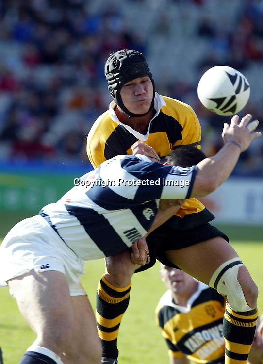 17 August, 2002. Rugby Union, NPC Division One. <br />Auckland v Taranaki, Eden Park, Auckland.<br />Chris Masoe.<br />Pic: Andrew Cornaga/Photosport