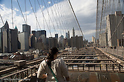 View of Manhattan from the Brooklyn Bridge, New York