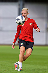 NEWPORT, WALES - Thursday, August 30, 2018: Wales' captain Sophie Ingle during a training session at Rodney Parade ahead of the final FIFA Women's World Cup 2019 Qualifying Round Group 1 match against England. (Pic by David Rawcliffe/Propaganda)