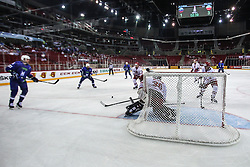 Przemyslaw Odrobny of Poland during Ice Hockey match between National Teams of Slovenia and Poland in Round #2 of 2018 IIHF Ice Hockey World Championship Division I Group A, on April 23, 2018 in Budapest, Hungary. Photo by David Balogh / Sportida