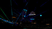 Laser Show during Fan Fest at Bank of America Stadium, Friday, Aug. 2, 2019, in Charlotte, NC. (Brian Villanueva/Image of Sport)