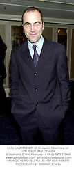 Actor JAMES NESBITT at an award ceremony on 12th March 2002.OYG 254