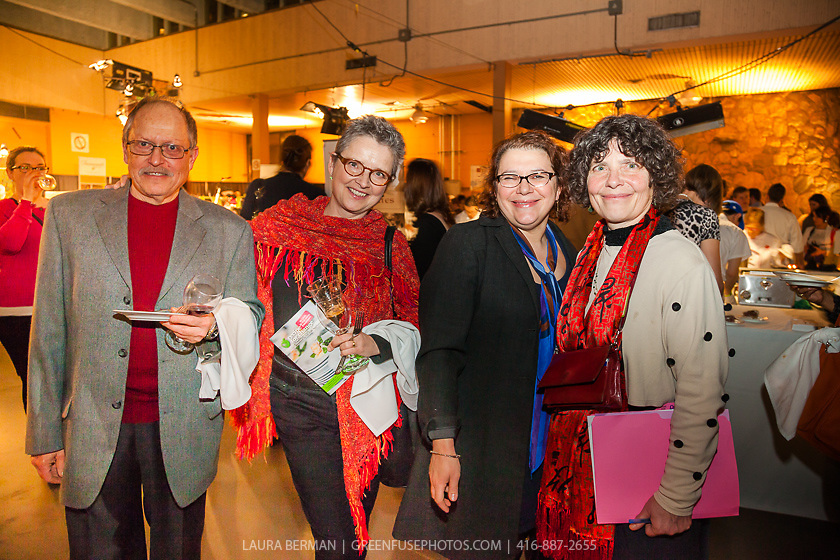 FoodShare supporters Mark Krakowski, Cookie Roscoe, and Anne Sorrenti, with Executive Director Debbie Field at FoodShare Toronto's Recipe for Change, February 28,  2013